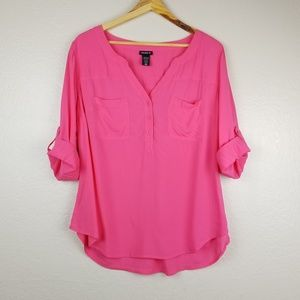 Torrid - 'Harper Pink Challis Pullover Blouse'